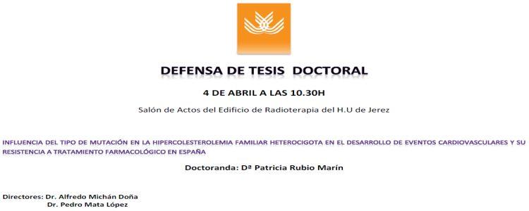 Defensa Pública de la TD de Dª Patricia Rubio Marín