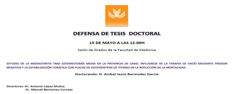Defensa Pública de la TD de D. Aníbal Jesús Bermúdez García